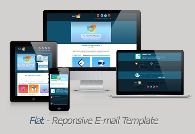 Flat - Responsive Email Template
