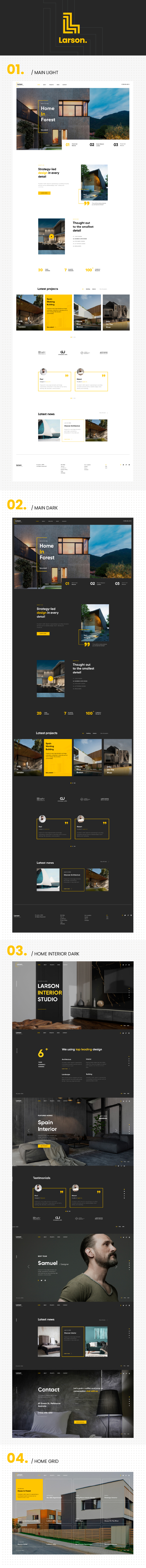 Larson   Architecture & Interior HTML template - 1