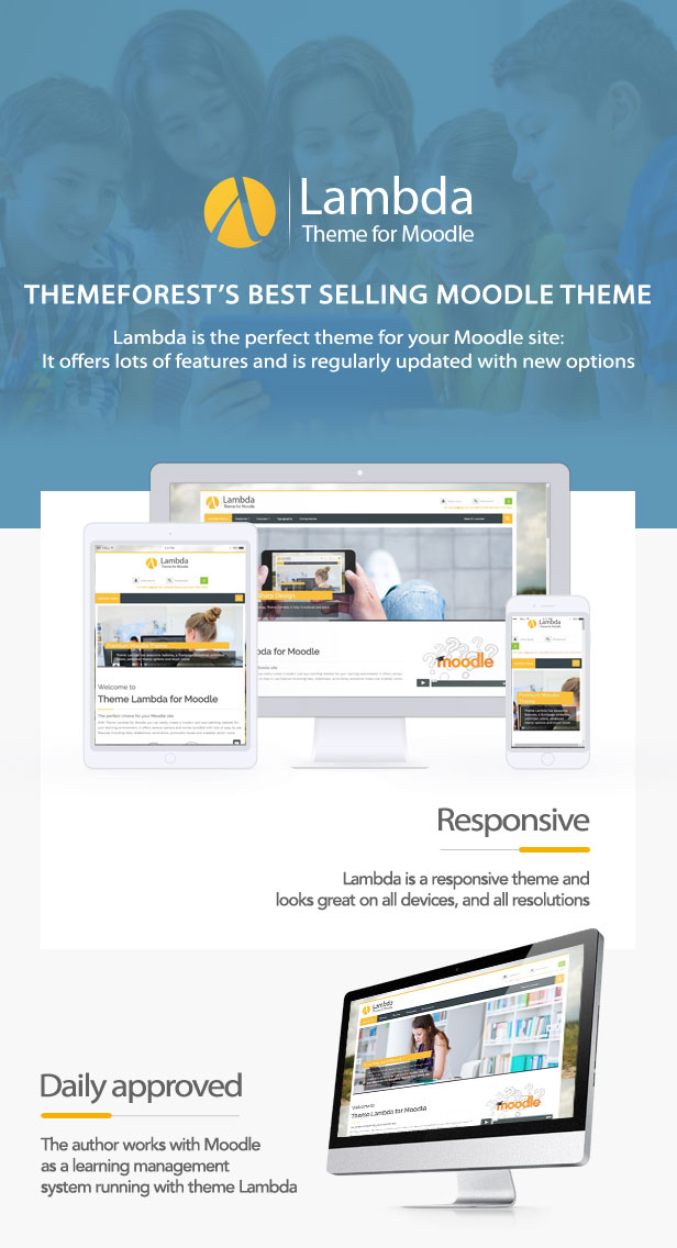 Theme Lambda for Moodle - the right choice for your Moodle site