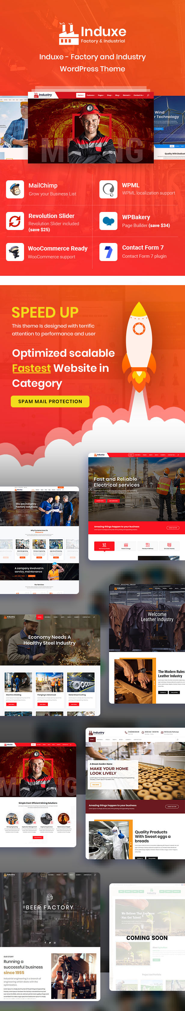 Induxe - Factory and Industry WordPress - 1
