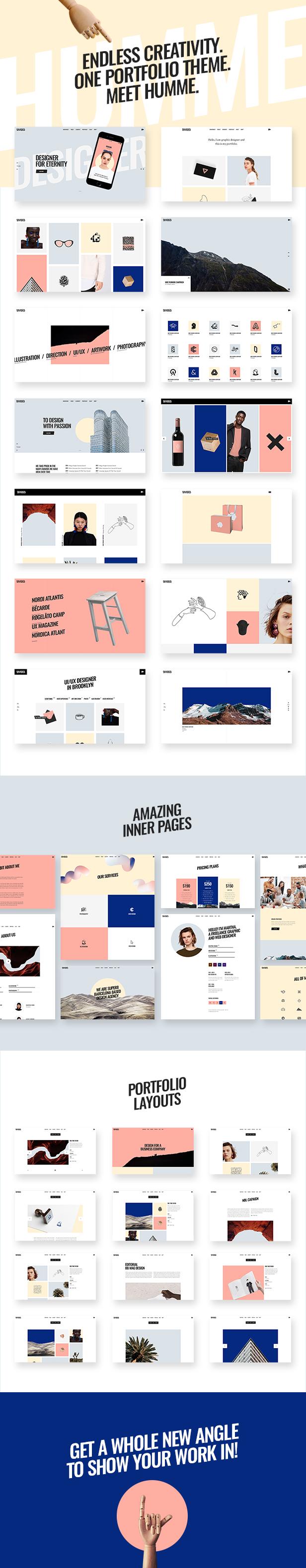 Humme - Design Portfolio Theme - 1