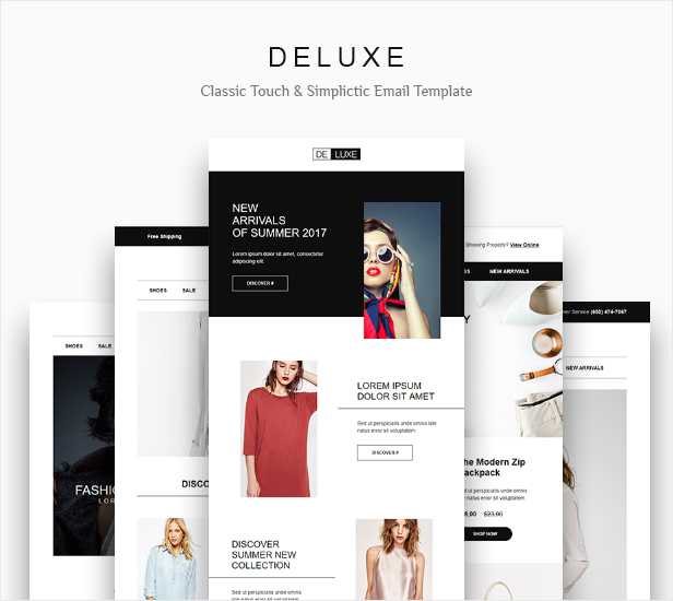 Deluxe Fashion Online Store Email Newsletter Template 10 Layout By Yemail