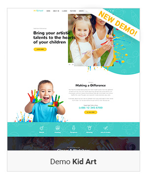 Kid Art - Education WordPress Theme