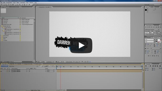 extreme sports lower thirds video tutorial