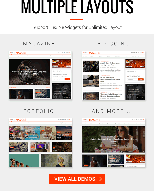 Multi-Purposes - MagOne - Magazine Blogger Template