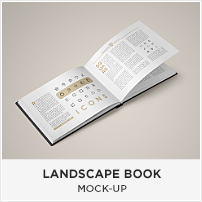 Square Book Mock-up / Dust Jacket Complete Edition - 1