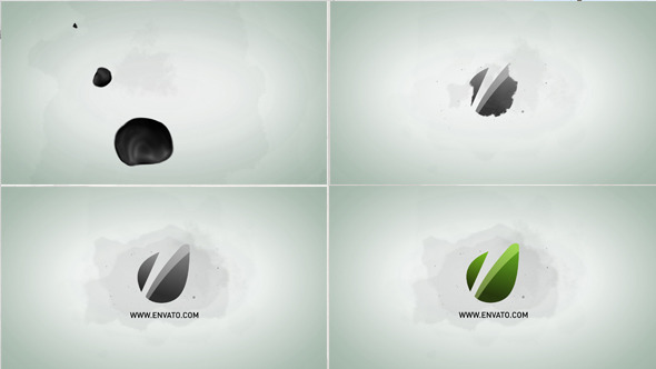 Abstract Water Drops Logo Reveal