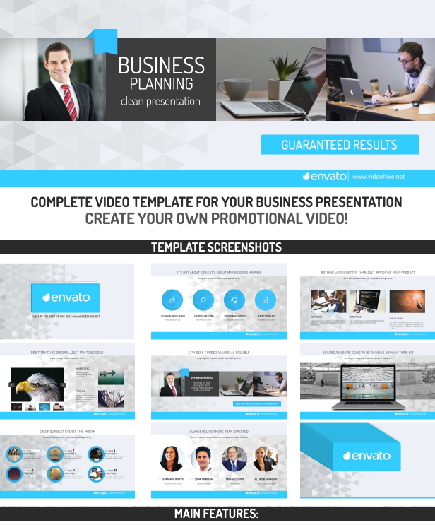 business planning - clean presentationjbmotion | videohive, Presentation templates