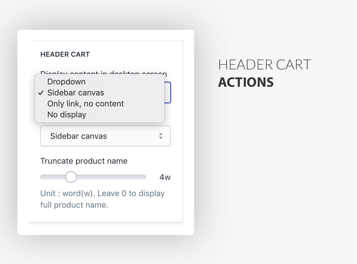 Header cart styles