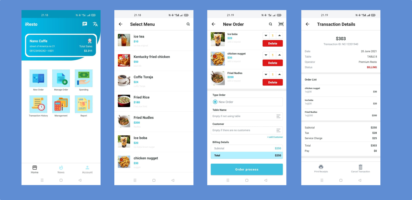 iResto | Restaurant application with the most complete features, with rest API and multi access - 1
