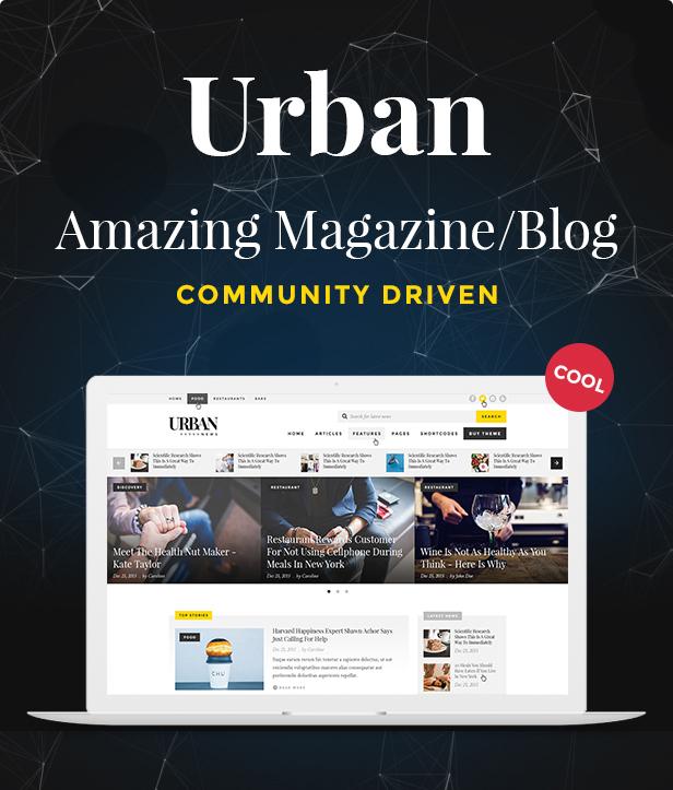 Urban - Responsive Magazine Theme - 9