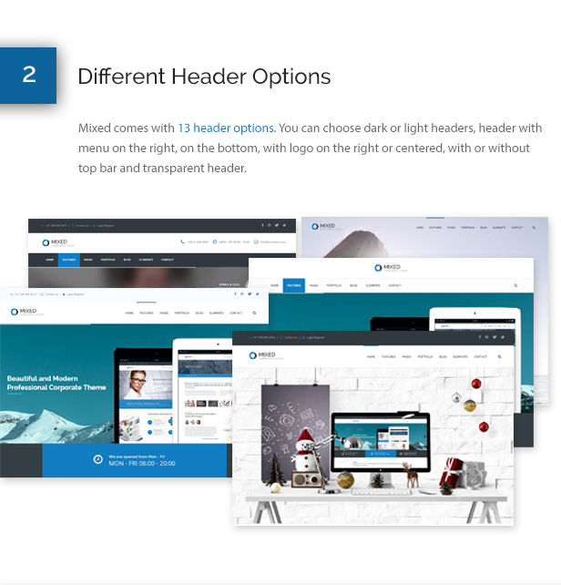 Mixed Modern and Professional HTML Template - 4