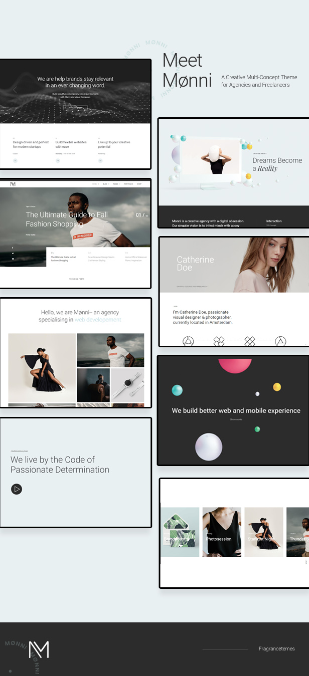Monni - A Creative Multi-Concept Theme for Agencies and Freelancers - 1