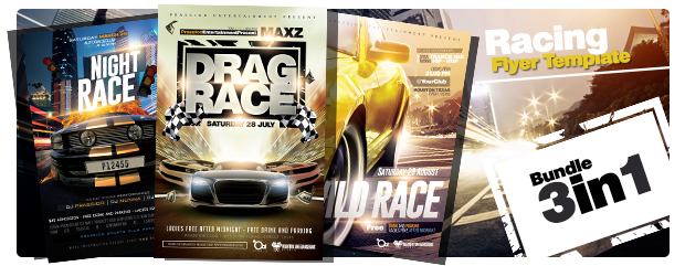 drag race flyer template by prassiod graphicriver