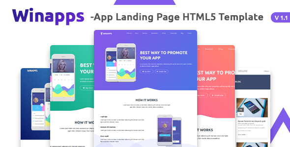 Winapps - App Landing Page HTML Template