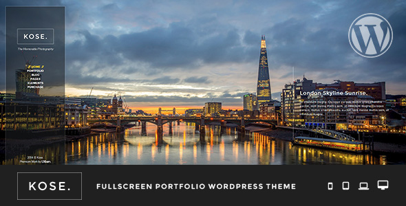 Kose - Fullscreen Portfolio WordPress Theme