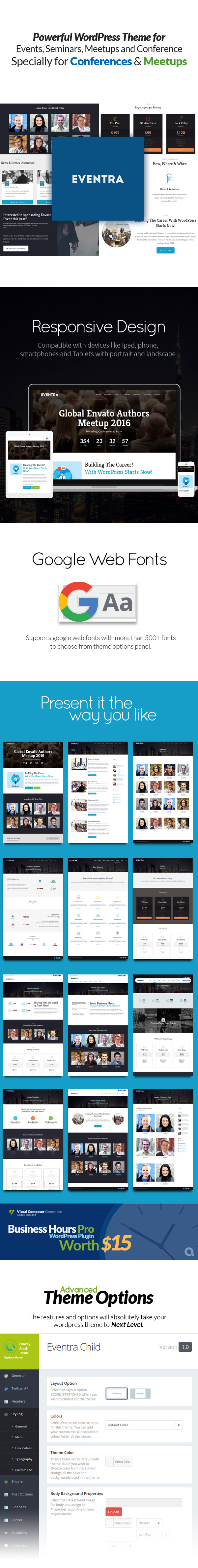 Eventra - Seminar, Meetups & Conferences WordPress Theme - 5