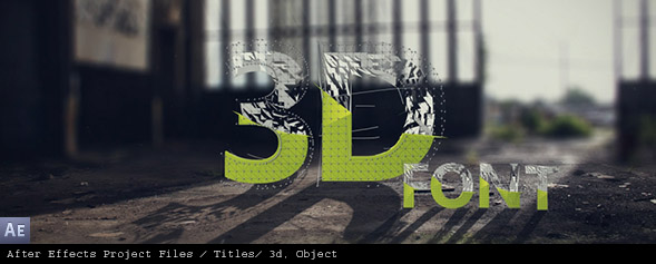 Modern 3D Typeface Kit