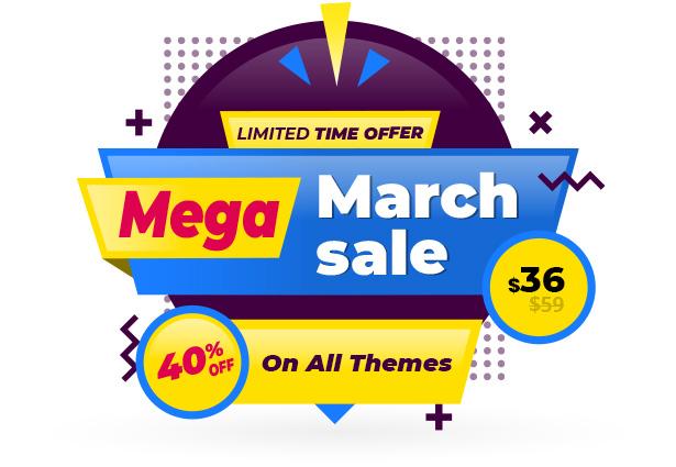 dwt theme mega march sale 2020