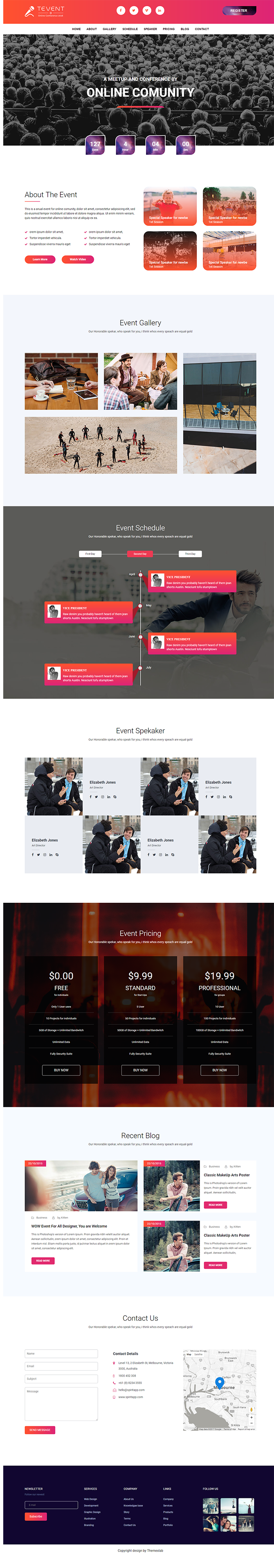 Tevent - Event Conference & Meetup HTML Template - 2