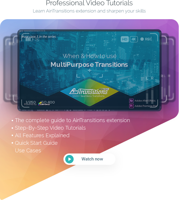 AinTransitions | Ultimate Multipurpose Transitions Pack - 53