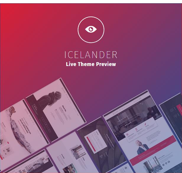 Icelander WordPress theme demo website