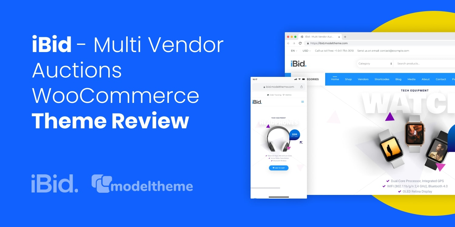 iBid Auctions Theme Review: Multi-Vendor Marketplace