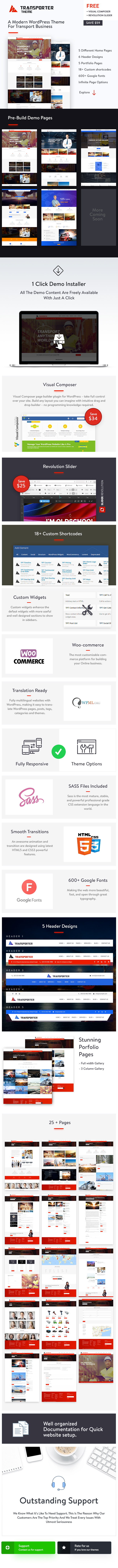 Transporter   Transportation & Logistics WordPress Theme - 1