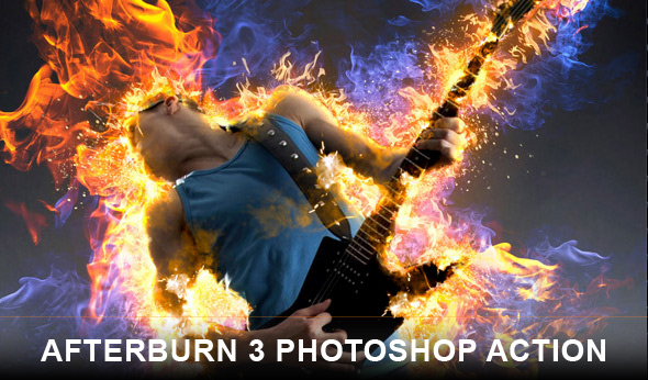 Afterburn 3 Photoshop action