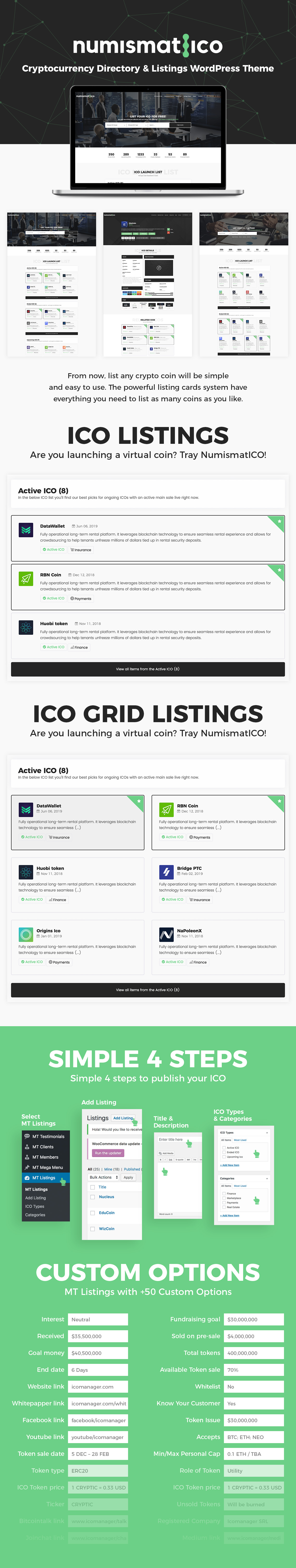 Numismatico - Cryptocurrency Directory & Listings WordPress Theme - 7