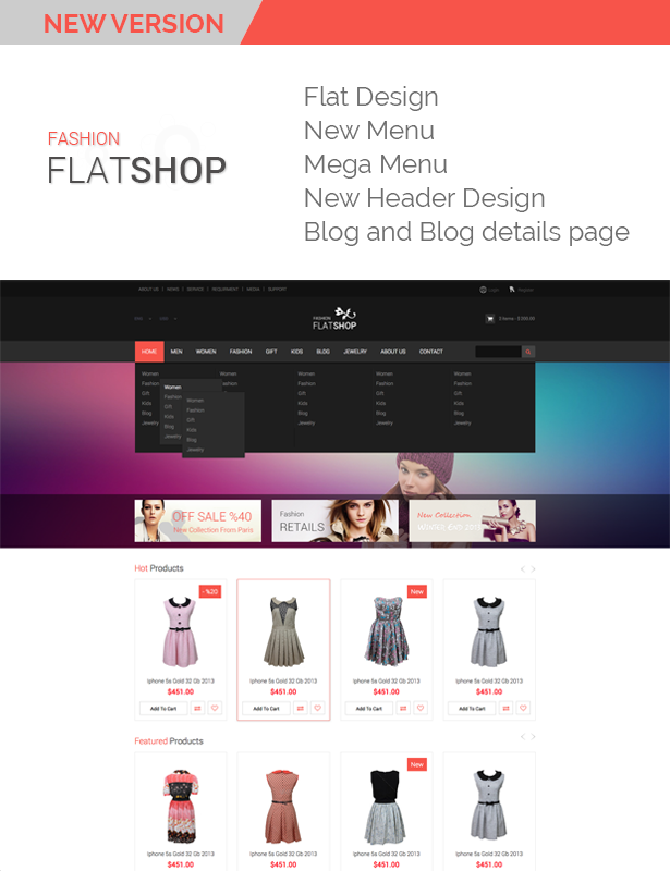 The New Flat Shop - HTML Template - 5