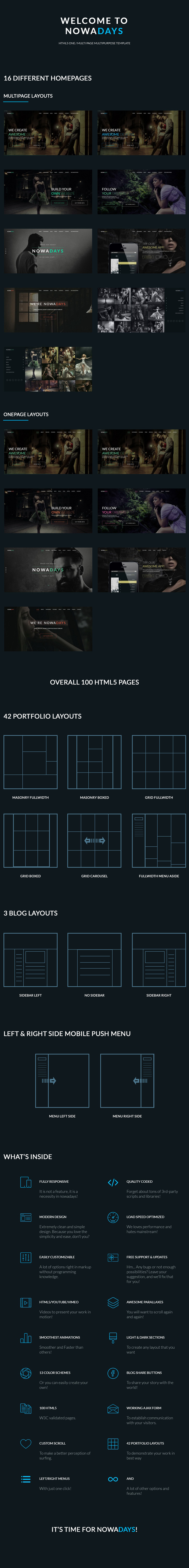 NowaDays - Multipurpose One/Multipage Creative Agency HTML5 Template - 7