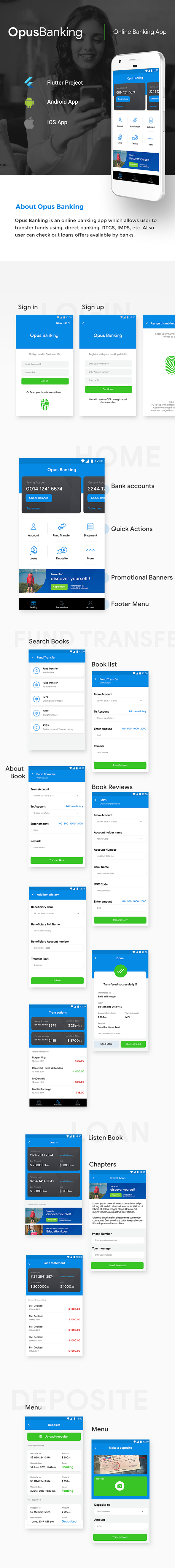 Online Banking Android App + Online Banking iOS App Template| Bank App| Opus Banking | Flutter - 6