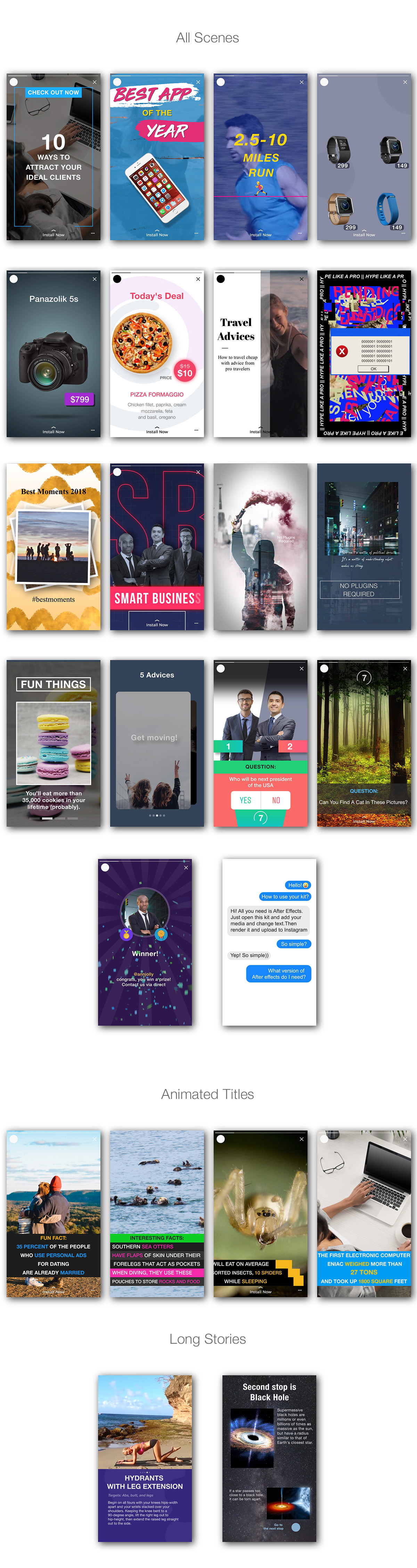 Animated Stories Kit // Instagram, Snapchat, Facebook - 12
