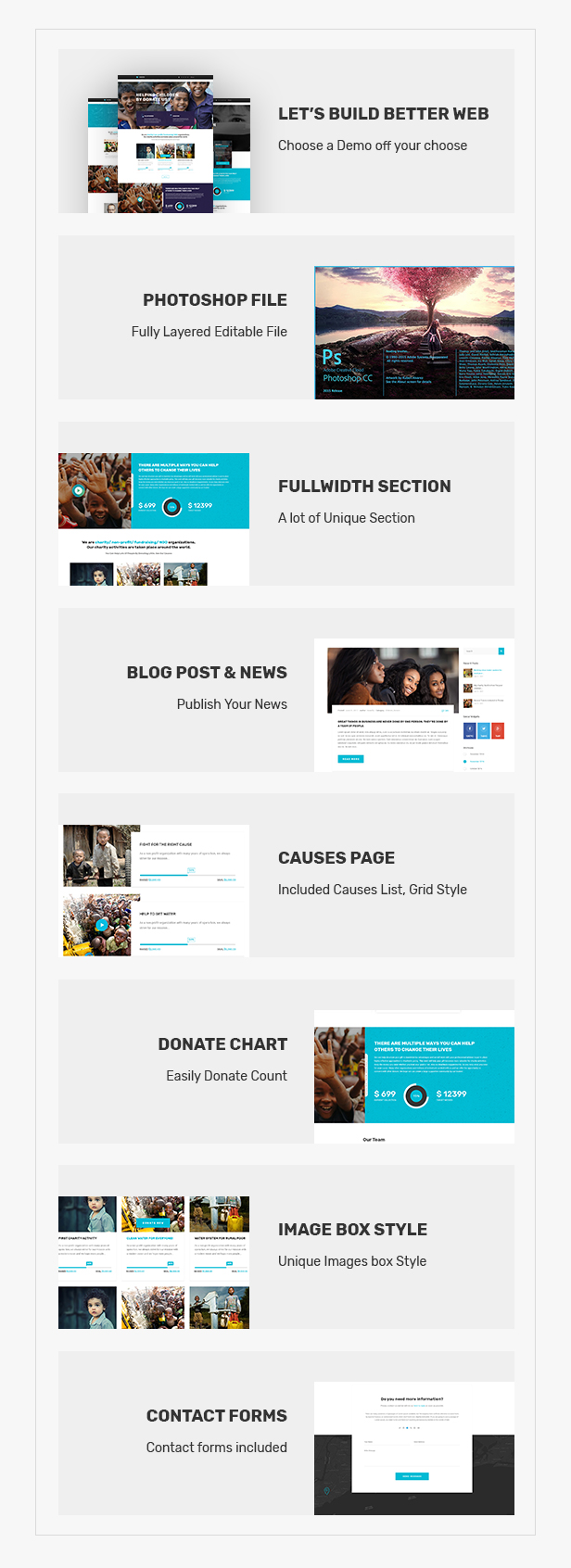 ELEVATION - Charity / Nonprofit / Fundraising PSD Template by tophive
