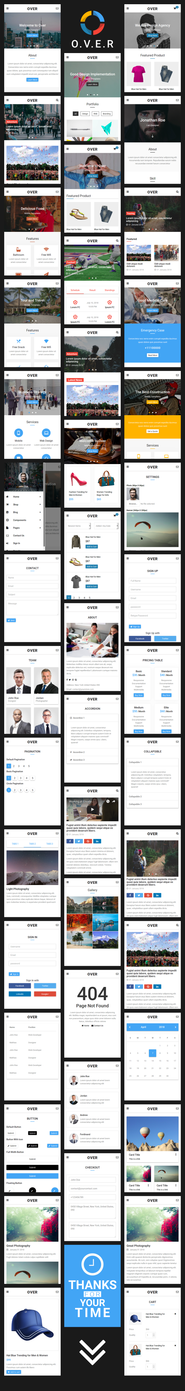 over multi concept web app ui kit mobile template by astylers
