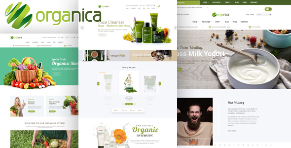 Organica - Organic, Beauty, Natural Cosmetics, Food, Farn and Eco WordPress Theme - WooCommerce eCommerce