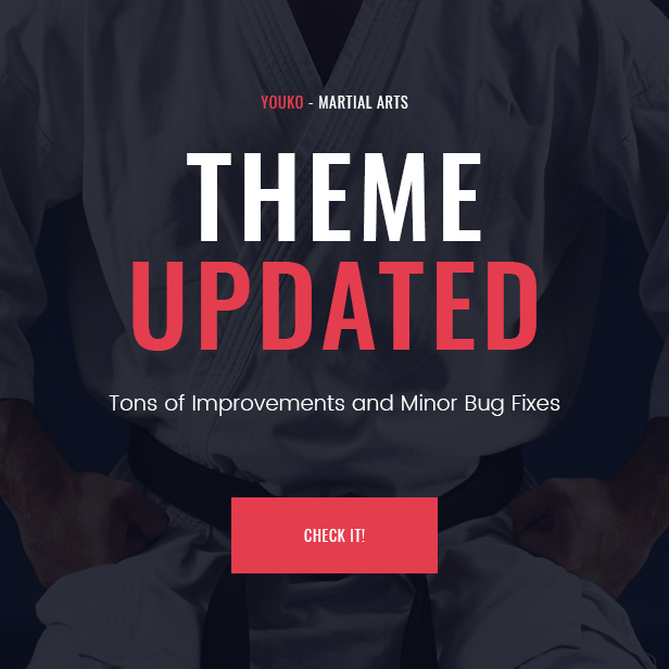 Youko - Martial Arts WordPress Theme