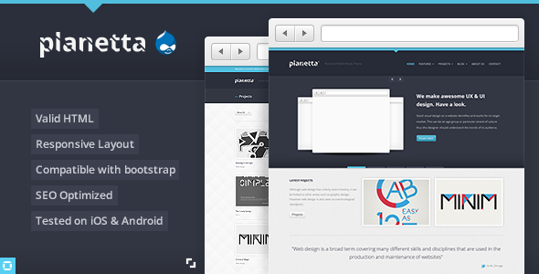 Planetta Best Responsive Drupal Themebest Free Theme 7