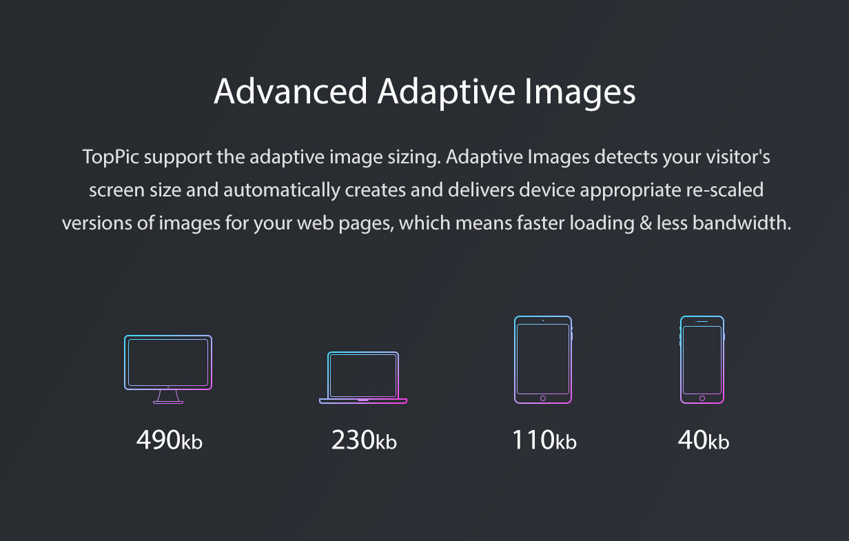 TopPic Photography WordPress Adaptive Images