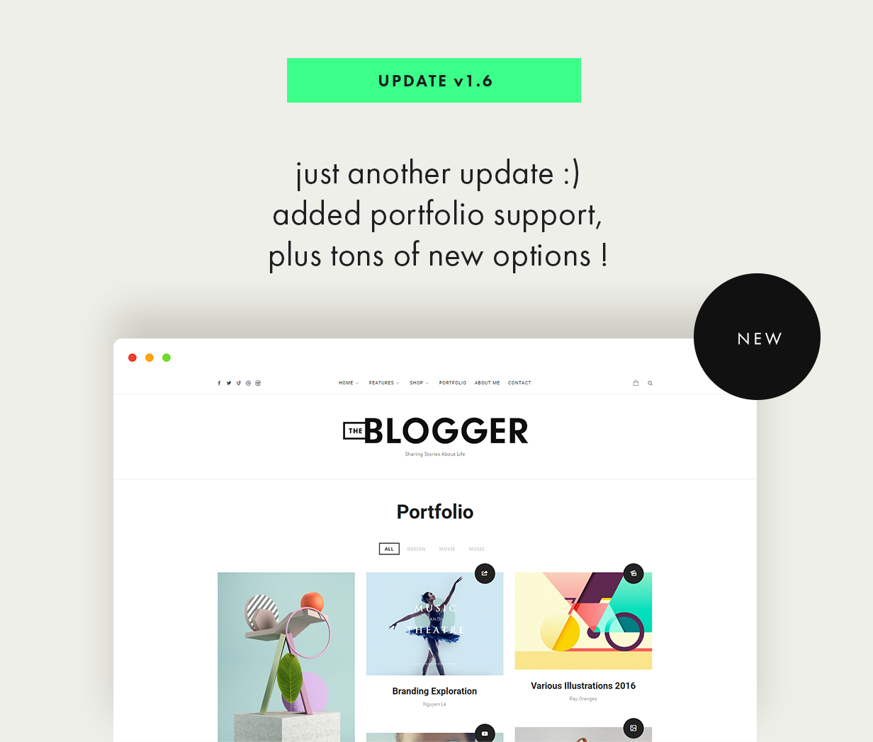 theblogger theme update v1.6