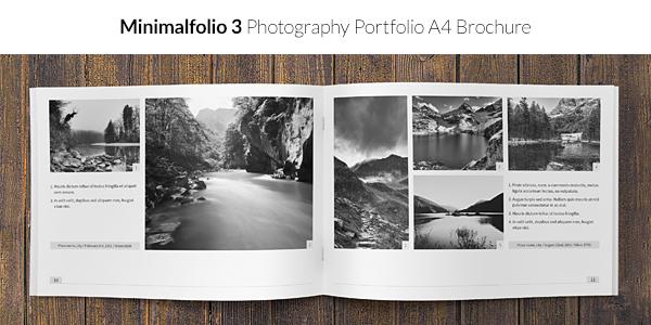 Minimalfolio 3 Photography Portfolio A4 Brochure