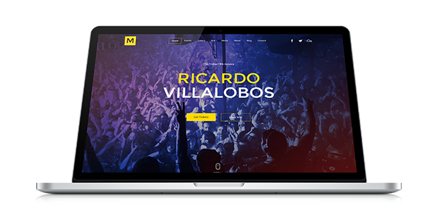 Musiq - Nightclub Discoteque Bar DJ Adobe Muse Template