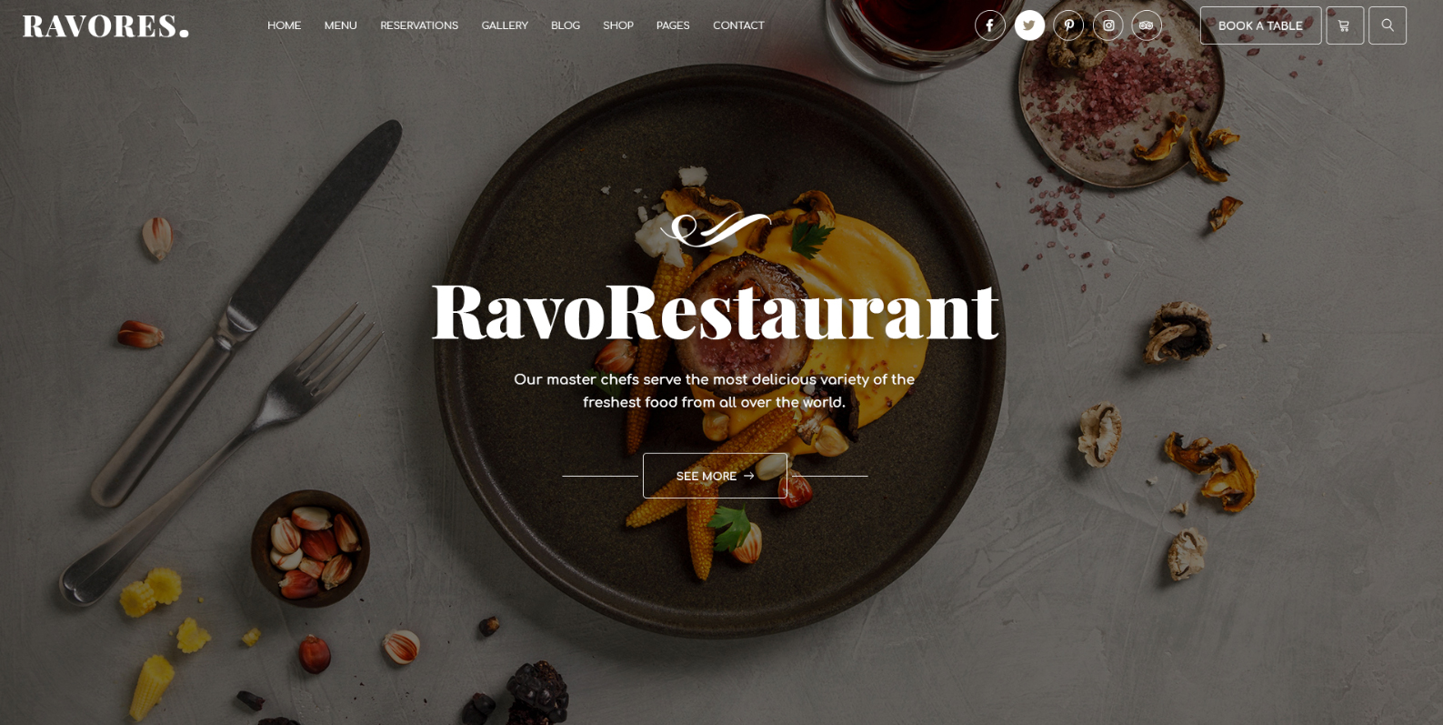 Multipurpose Restaurant & Cafe WordPress Theme