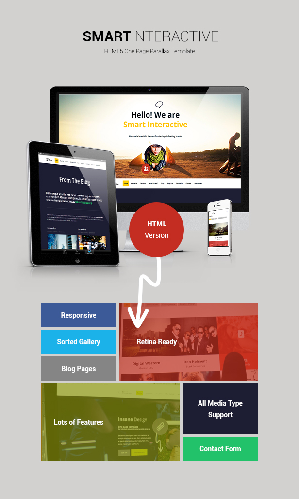 Smart Interactive HTML5 One Page Creative Parallax - 1