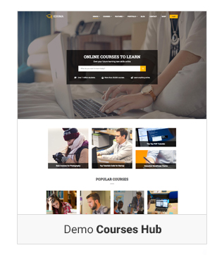 Education WordPress theme - Demo course hub
