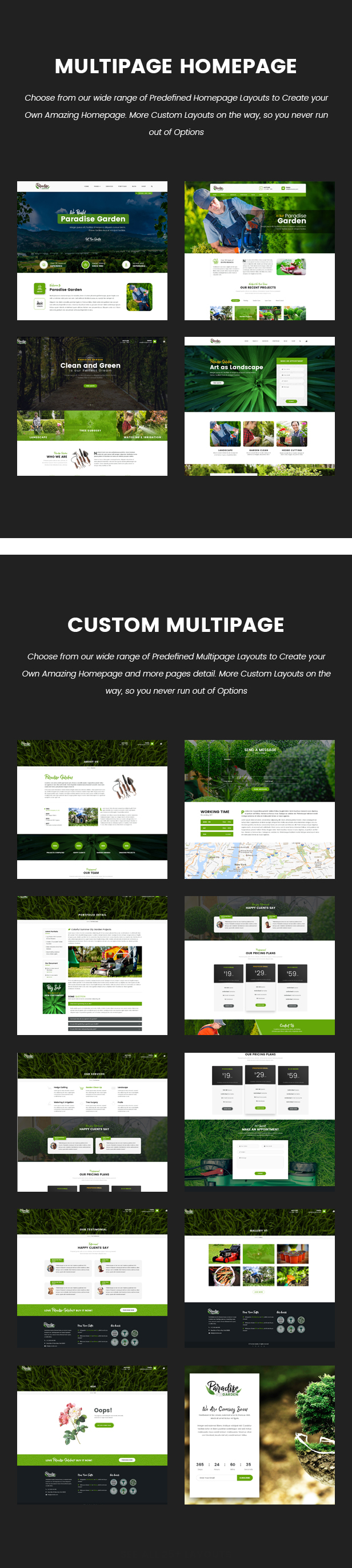 Paradise Garden Gardening And Landscaping Html Template By Qtcmedia