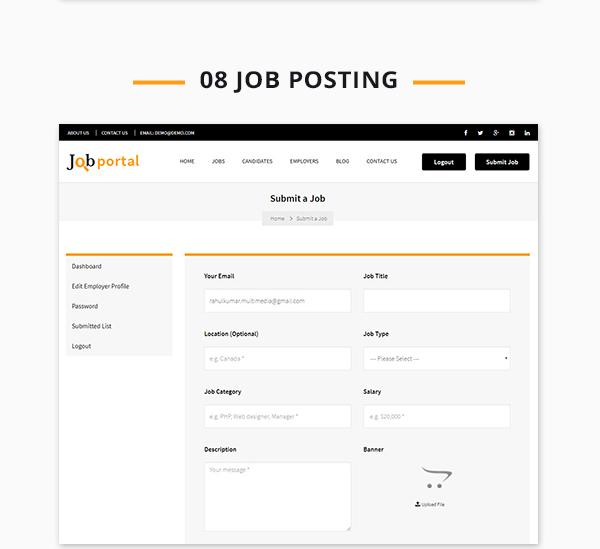 Job Portal Script login
