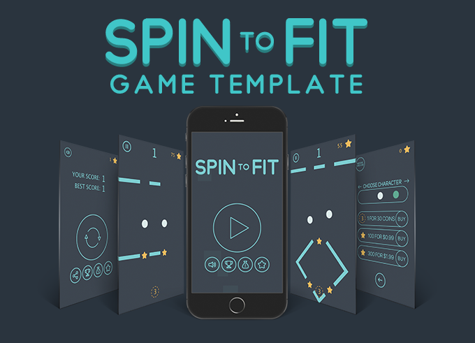 Jump Spin Fit - Fun Arcade Game IOS Template + easy to reskine + AdMob - 2