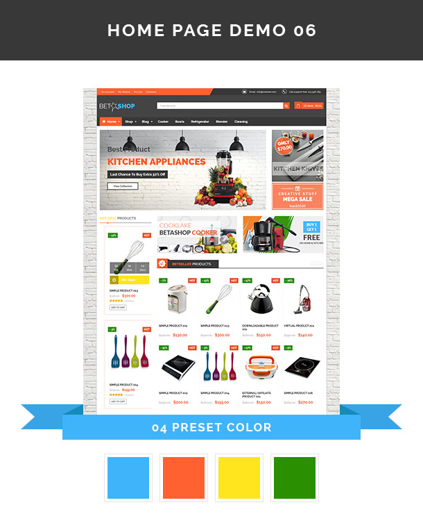 Vina BetaShop - Kitchen Appliances VirtueMart Template - 11